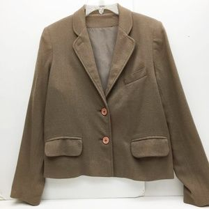 Womens Blazer Vintage ILGWA Union Label Brown 6